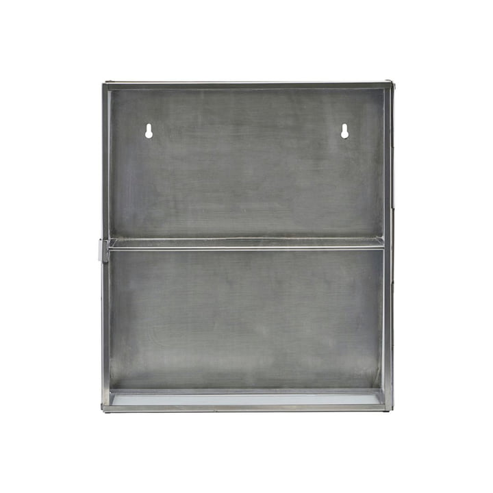 Zinkskab 40 cm af House Doctor i rustfrit stål / glas