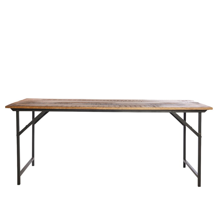 Fest spisebord 180 x 80 cm af House Doctor i brunt