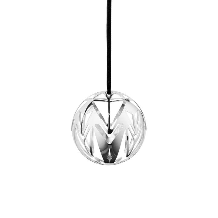 Karen Blixen julekule Ø 6,5 cm af Rosendahl i sølvbelagt