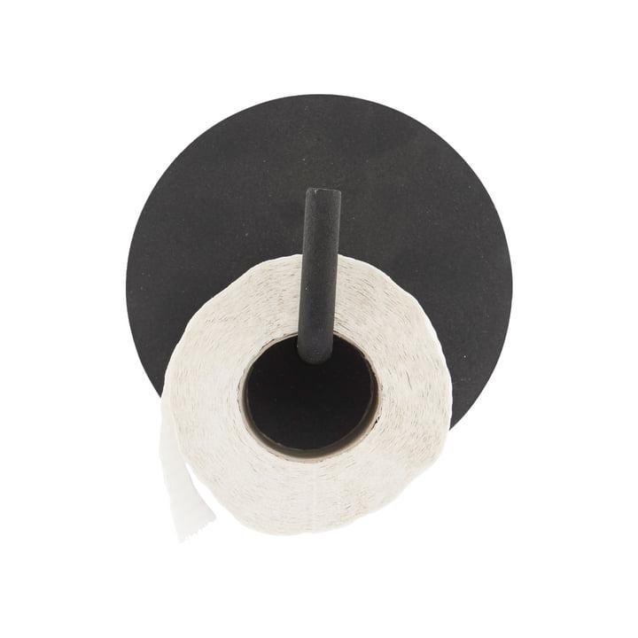 Toiletpapirholder tekst, sort af House Doctor