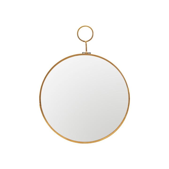 Loop væg spejl Ø 22 cm, messing af House Doctor