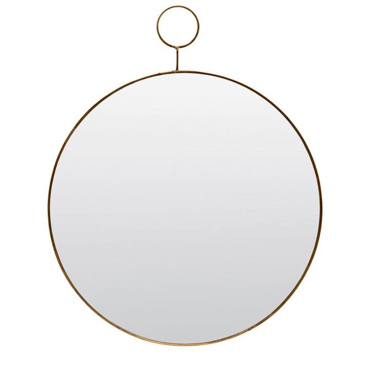 Loop wall mirror Ø 38 cm, messing af House Doctor