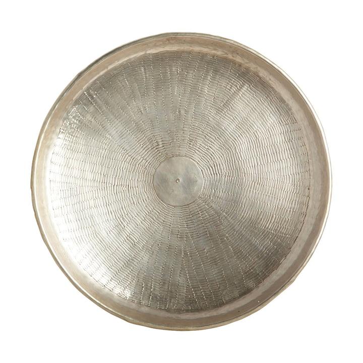 Skær bakke, Ø 38 x H 5 cm, messing / sølv fra House Doctor