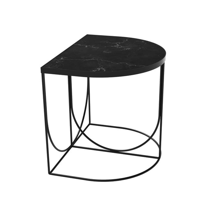 Sino sidebord 40 x 50 cm af AYTM i sort / marmor sort