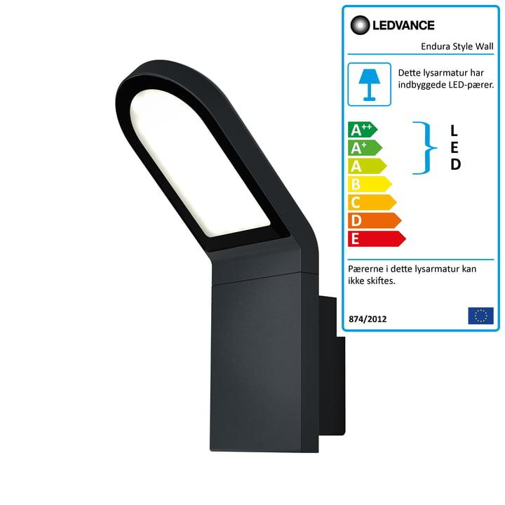 Ledvance - Endura Style Wall udendørs LED-væglampe, IP 44 / varm hvid 3000 K, mørkegrå