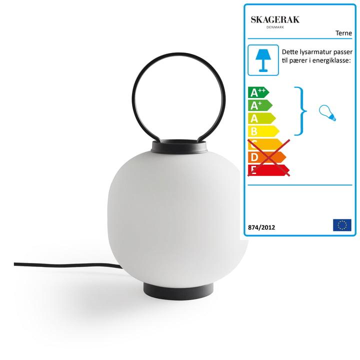 Terne bordlampe Ø 22 x H 37 cm af Skagerak i sort
