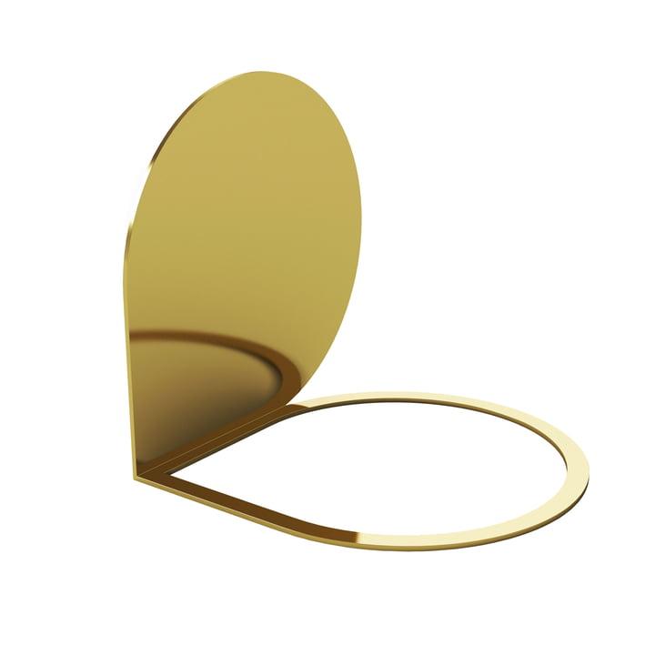 Stilla bookend 14 x 14 cm af AYTM i guld