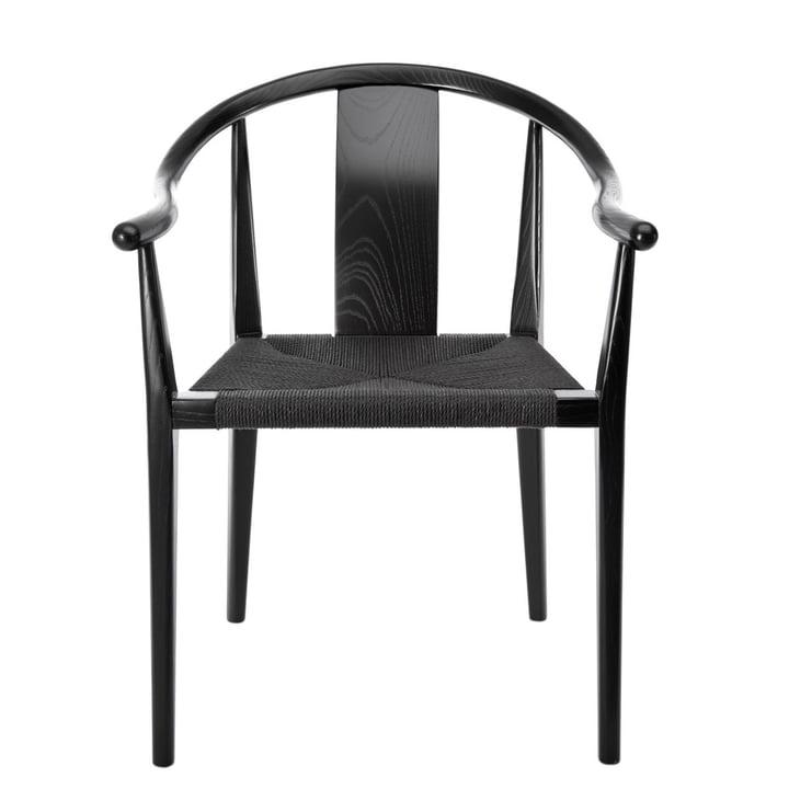 Shanghai lænestol, papirgarn sort / aske sort af Norr11