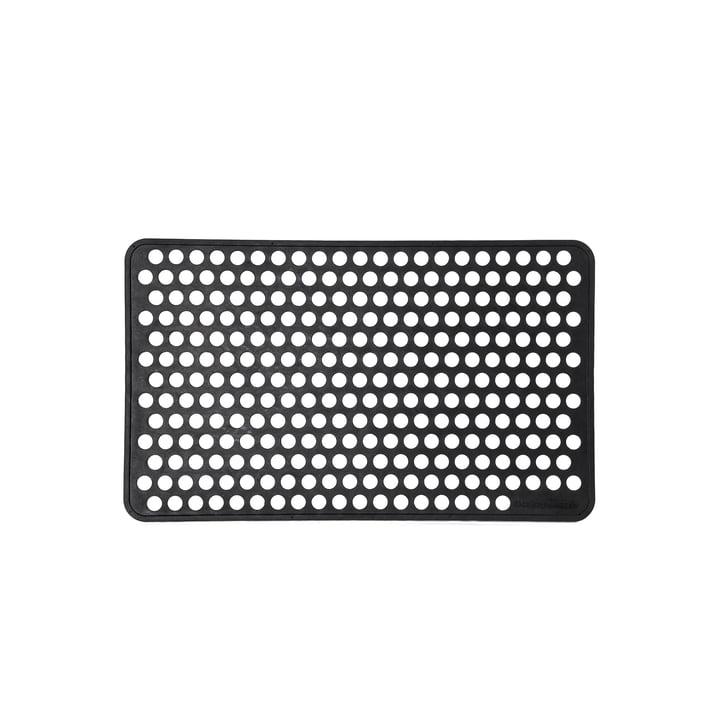 Gummifodtæppe 45 x 75 cm prik af tica copenhagen i sort