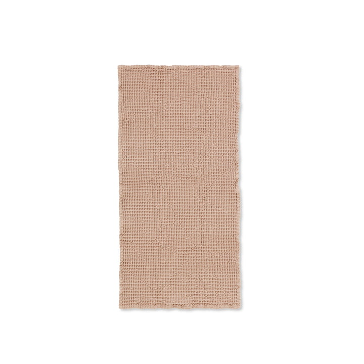 Organisk håndklæde 100 x 50 cm fra ferm Living in antik pink