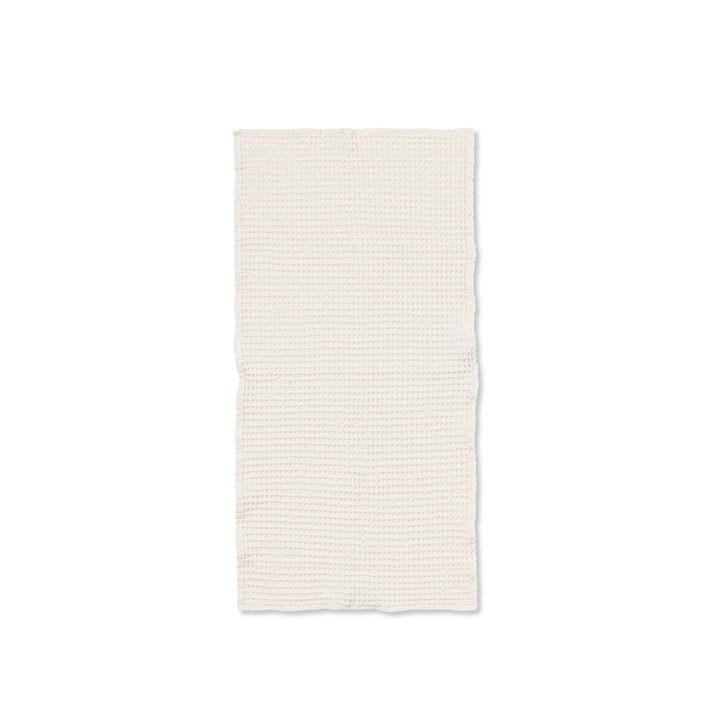 Organic håndklæde 100 x 50 cm fra ferm Living i hvid