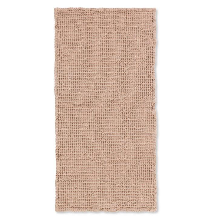 Organic badehåndklæde 140 x 70 cm fra ferm Living i mørk pink