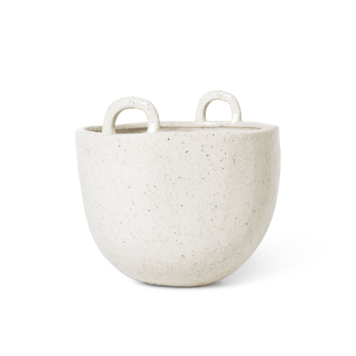 Speckle Plant Pot, Ø 18,5 x H 19 cm by ferm Living in off-white