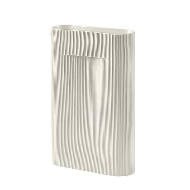 Ridge Vase H 48,5 cm af Muuto i off-white