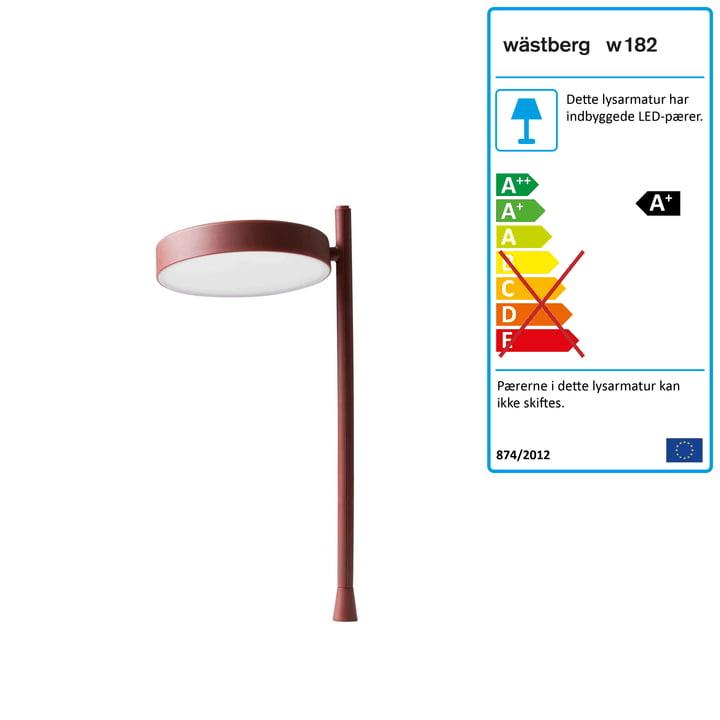 w182 Pastille LED bordlampe p2 fra Wästberg i oxideret rød