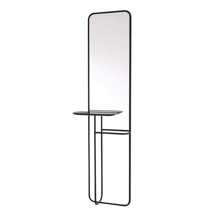 Concierge spejl med hylde fra Caussa i sort
