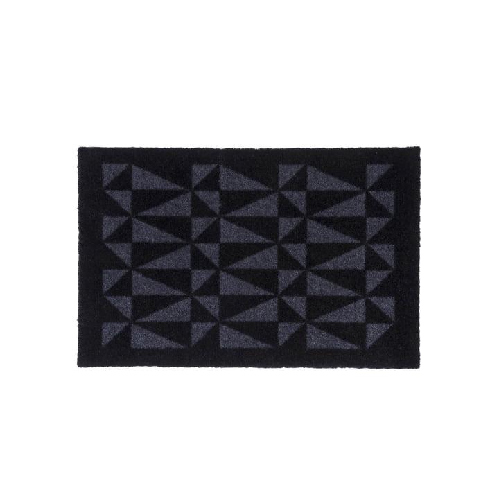 Grafisk dørmåtte 40 x 60 cm af tica copenhagen i sort / grå