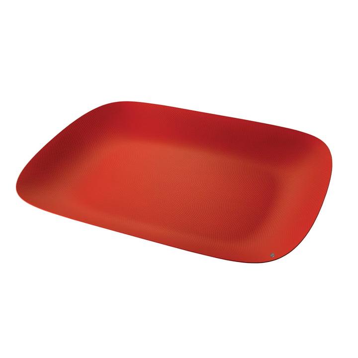 Moire bakke 45 x 34 cm af Alessi i rød med relieffdekoration