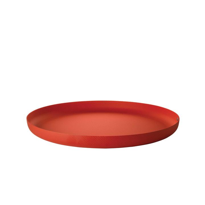 Bakke Ø 35 x H 3 cm af Alessi i rød med relieffdekoration