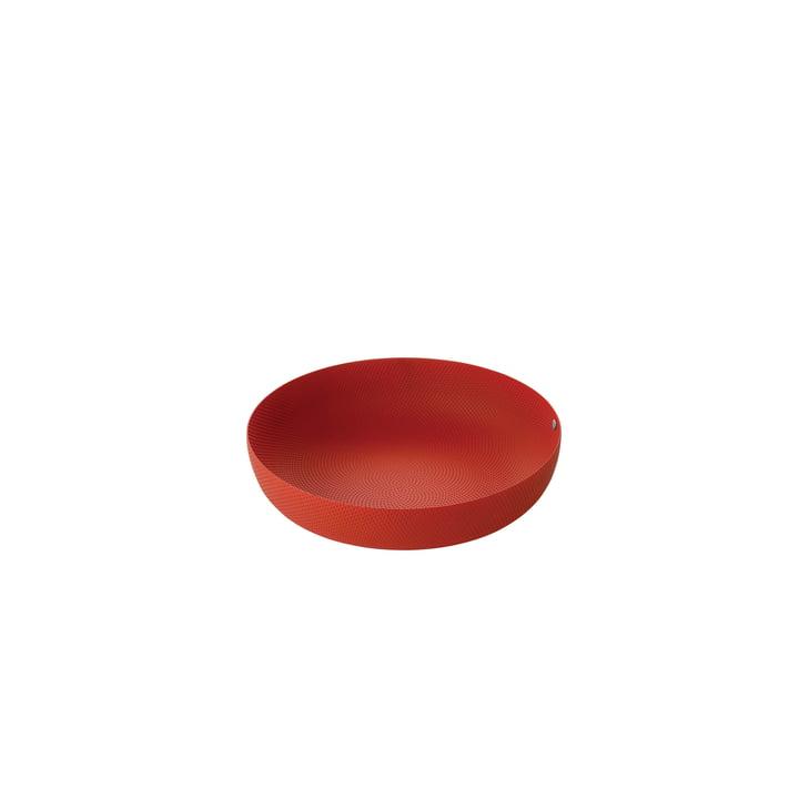 Skål Ø 21 x H 4,7 cm af Alessi i rød med relieffdekoration