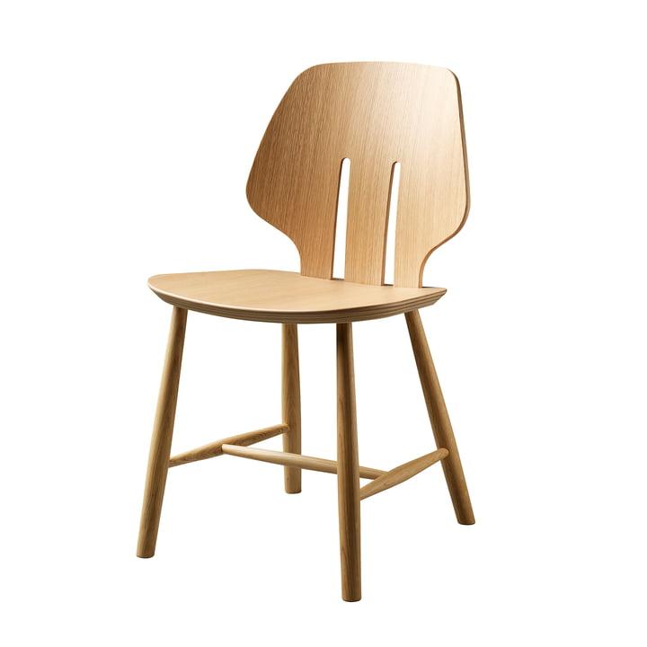 J67 stol, eg klar lakeret af FDB Møbler