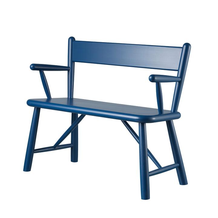 P11 børnebænk af FDB Møbler malet i birkeblå