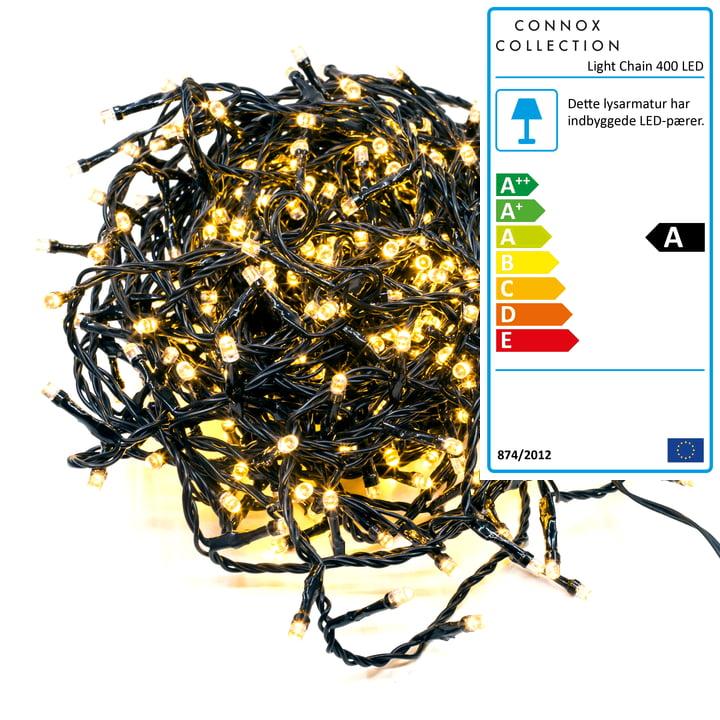 Connox Collection - Eventyr indendørs / udendørs (IP 44), 20 meter, 400 lys, sort