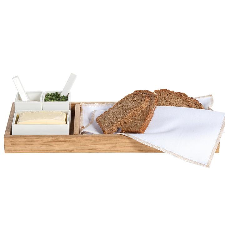 Brød, smør & salt, eg / hvid af Raumgestalt