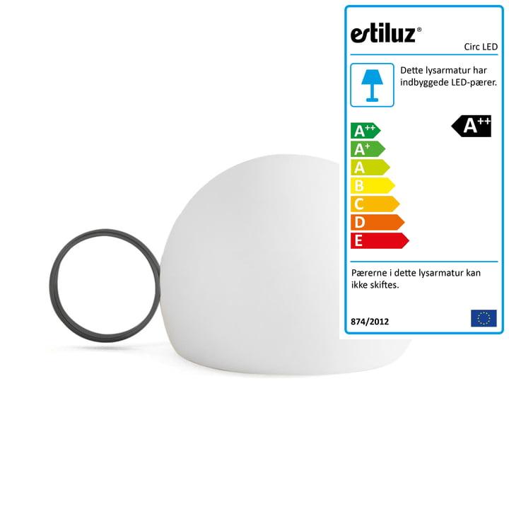 Circ LED batteridrevet bordlampe M-3726 af Estiluz i sort