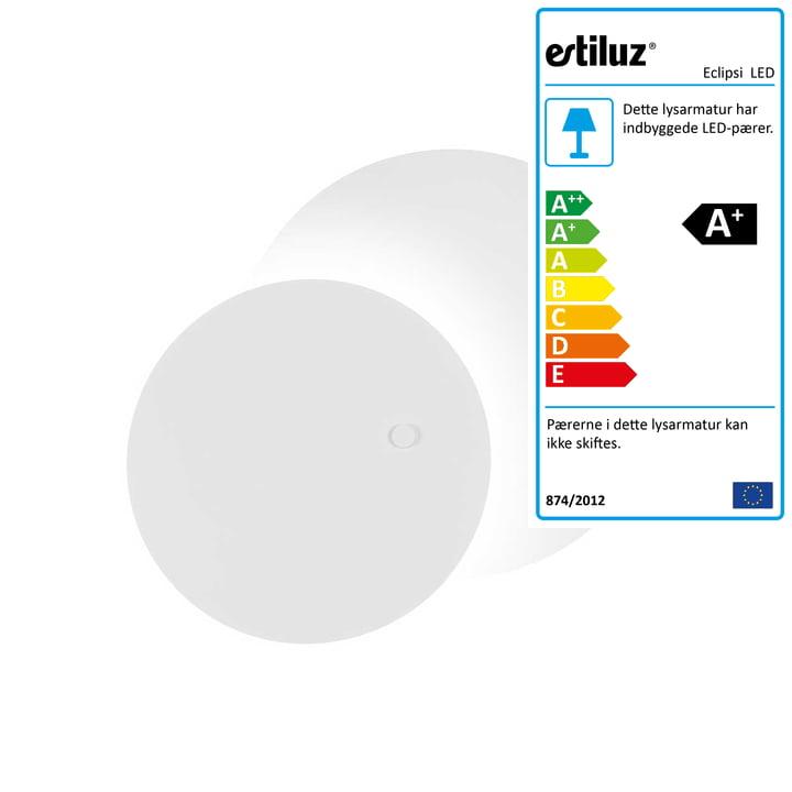 Eclipsi LED væg- og loftslampe Ø 50 cm fra Estiluz i hvid