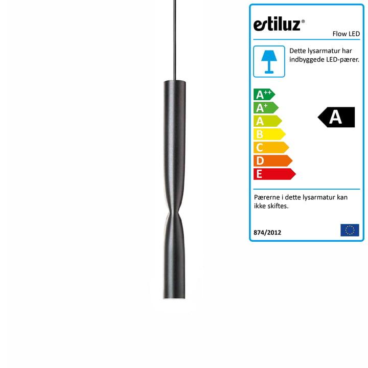 Flow LED vedhæng af Estiluz i sort