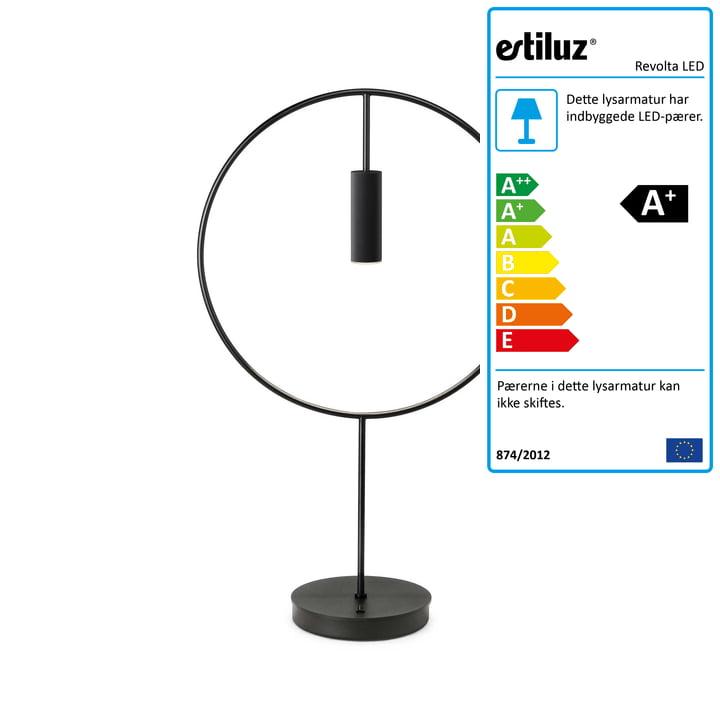 Revolta LED bordlampe 2700K fra Estiluz i sort