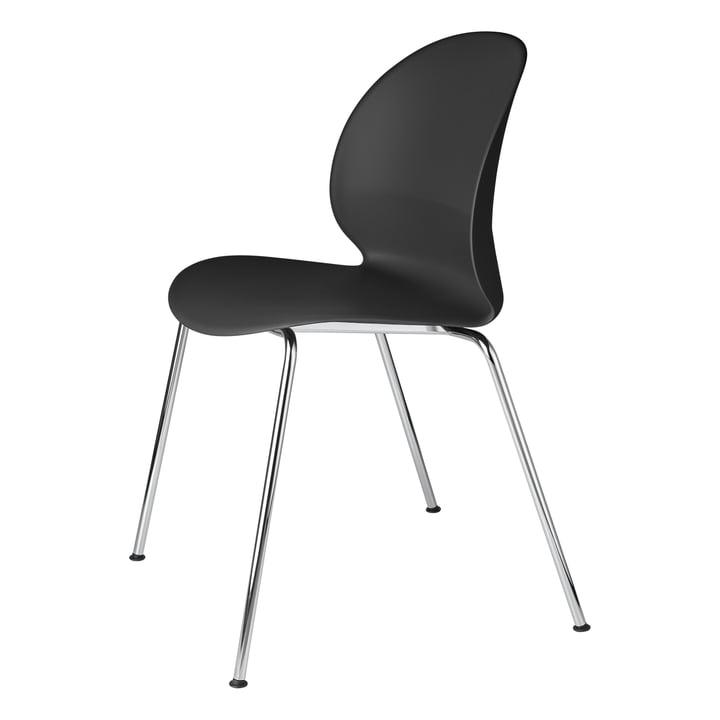 Fritz Hansen - N02 Genbrugsstol, krom / sort