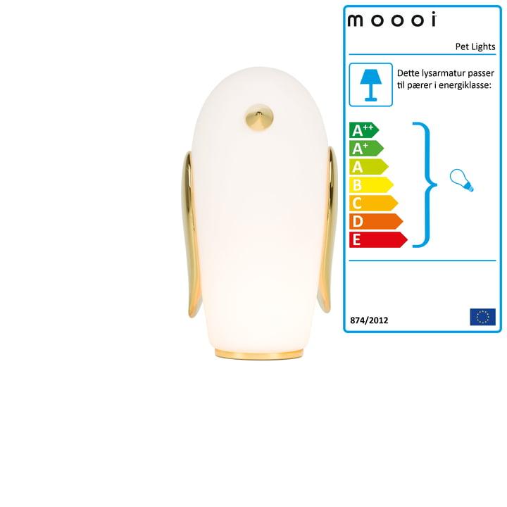 Huslygter Bordlampe, Noot Noot Penguin, hvid / guld af Moooi
