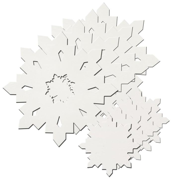 Snowflake gave sæt af LindDNA i krystal hvid 1,6 mm (4 placemats + 4 glasunderlag)
