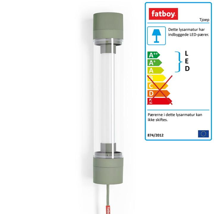 Tjoep LED væg- og loftslys 150 cm af Fatboy i grøn misundelse