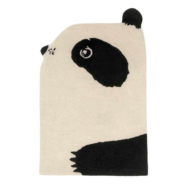 Animal Rug Panda 100 x 70 cm fra EO Denmark i sort / beige