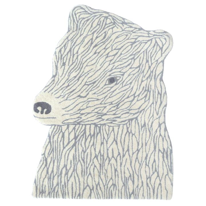 Dyretæppe 100 x 70 cm fra EO Denmark i beige / lysegrå