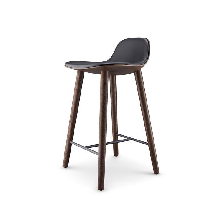 Abalone barstol H 65 cm af Eva Solo i røget eg / sort