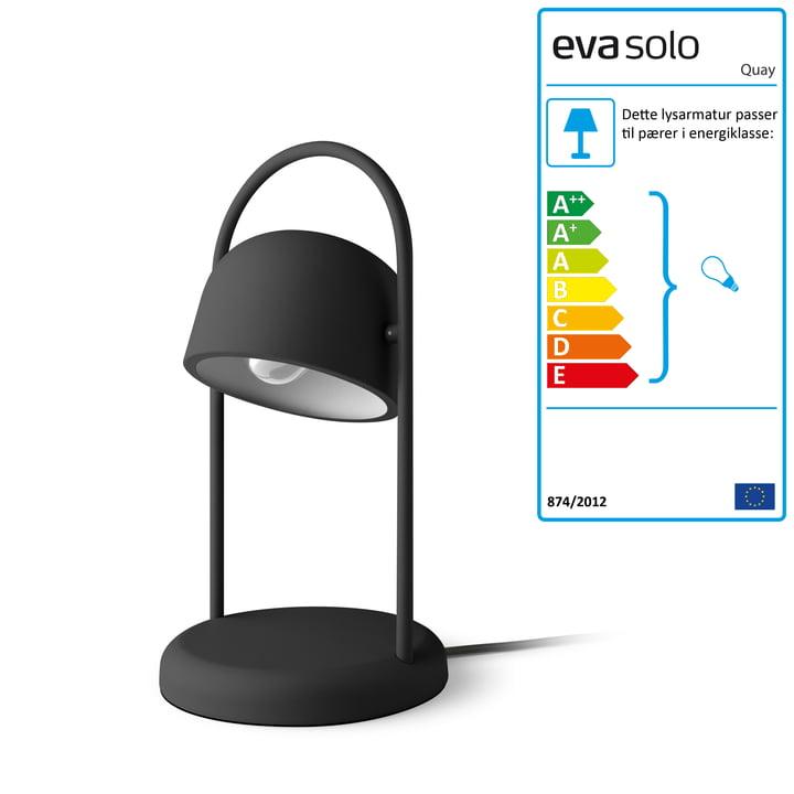 Kajbordslampe Ø 16 x H 40 cm af Eva Solo i sort