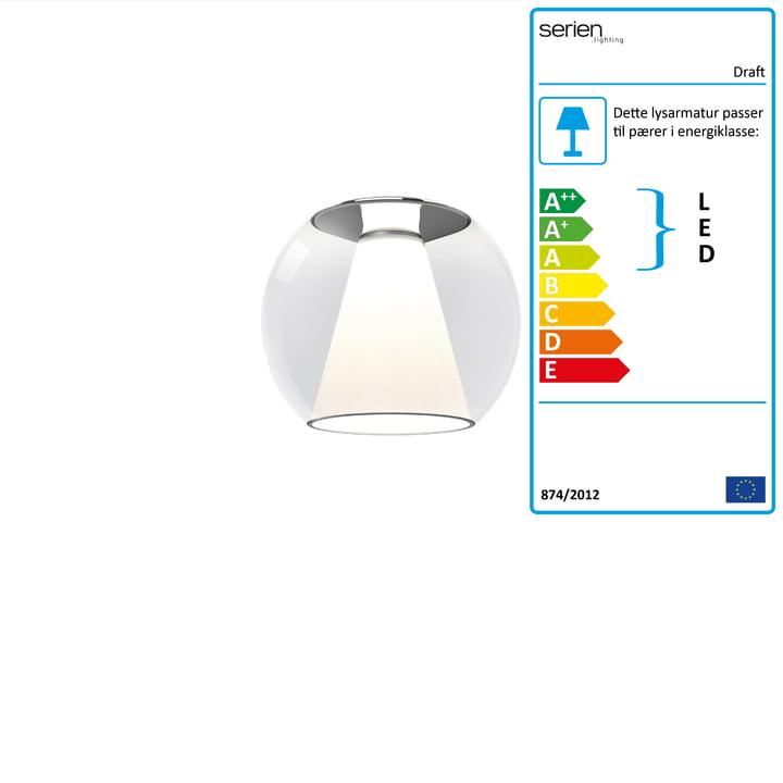 Loftslampe S, Ø 26 x H 23 cm, 2700 K / 1130 lm, fri for serien.belysning