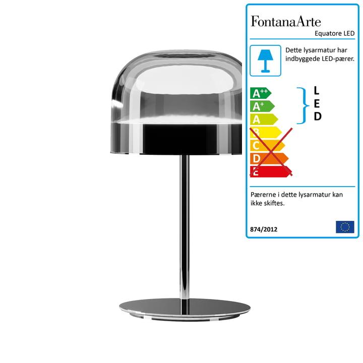 Equatore LED bordlampe Ø 23,8 cm af FontanaArte i krom / sort
