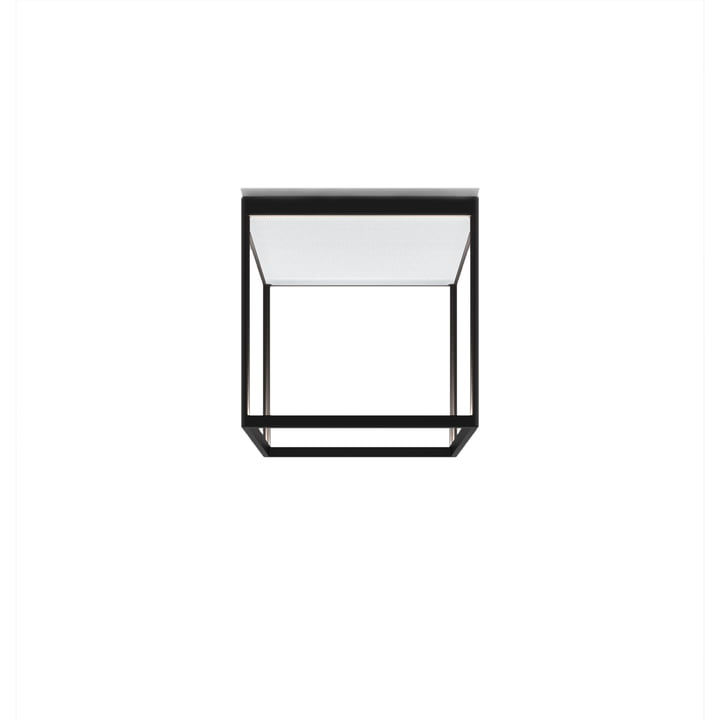 Reflex² 300 M LED loftslampe, 2700 K / 4520 lm, sort / struktureret glas hvid af serien.lighting