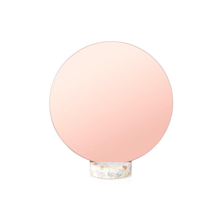 Erat bordspejl Ø 25 cm af Lucie Kaas i lyserød Terazzo