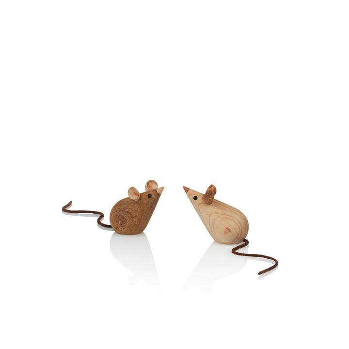 Skjøde Maus Træfigur af Lucie Kaas i ask / kastanje (2 stykker)