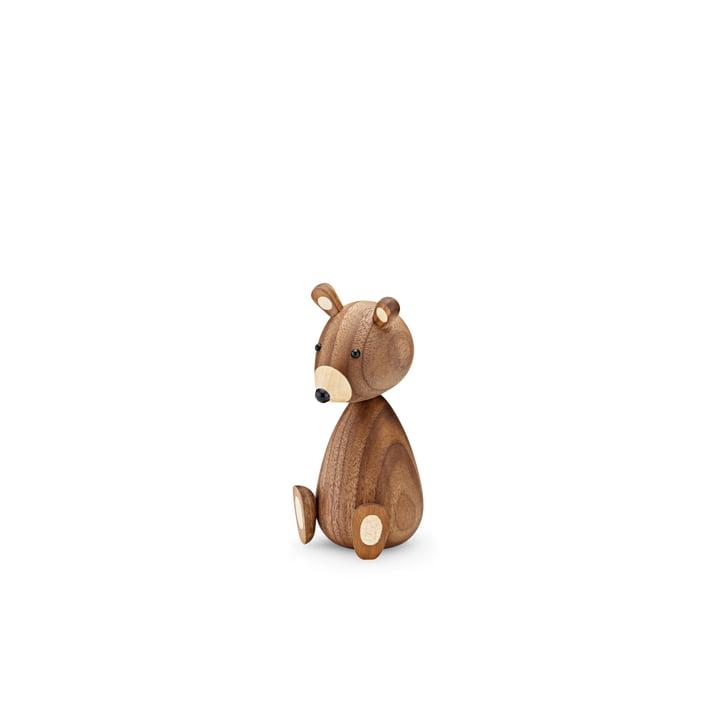 Babybjørn i træ H 11 cm af Lucie Kaas i valnød