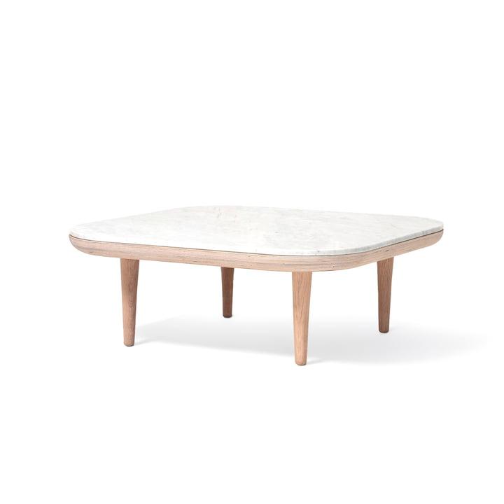 Fly sofabord SC4 80 x 80 cm efter & tradition i hvid eg / marmor Bianco Carrara