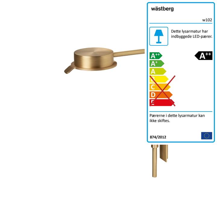 w102 Chipperfield LED væglampe m af Wästberg i guld