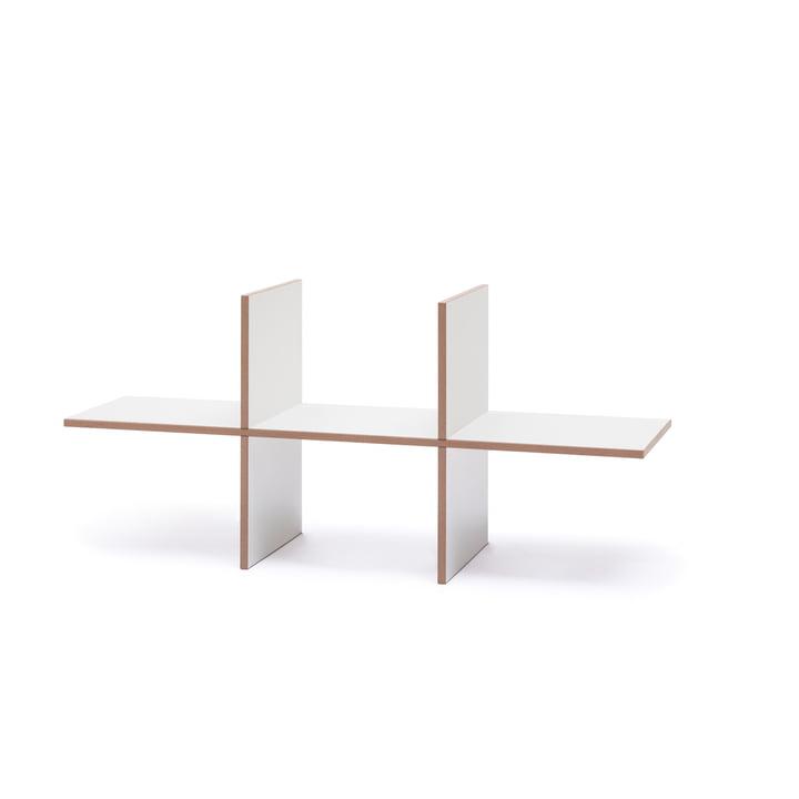 Tojo - indsats til gaffeltruck hylde enkel, hvid