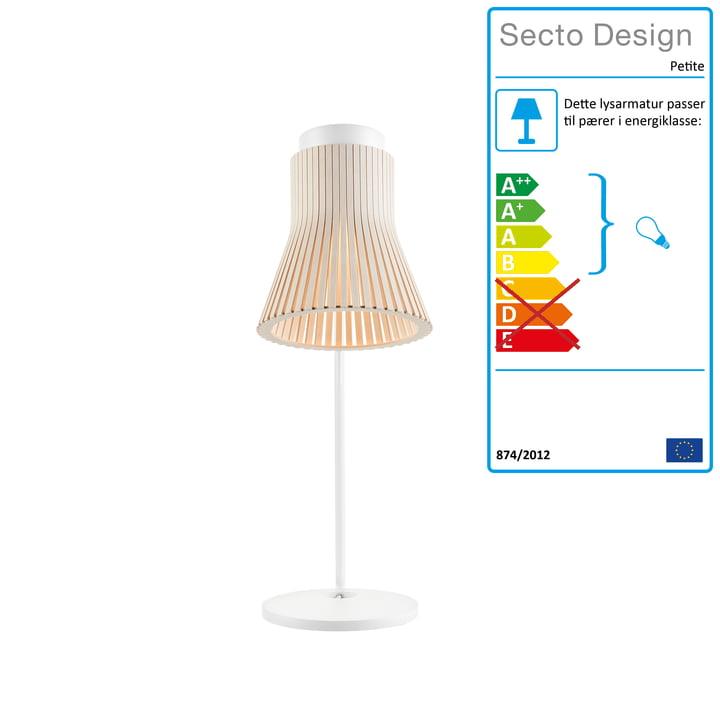 Petite 4620 bordlampe fra Secto i bjørk